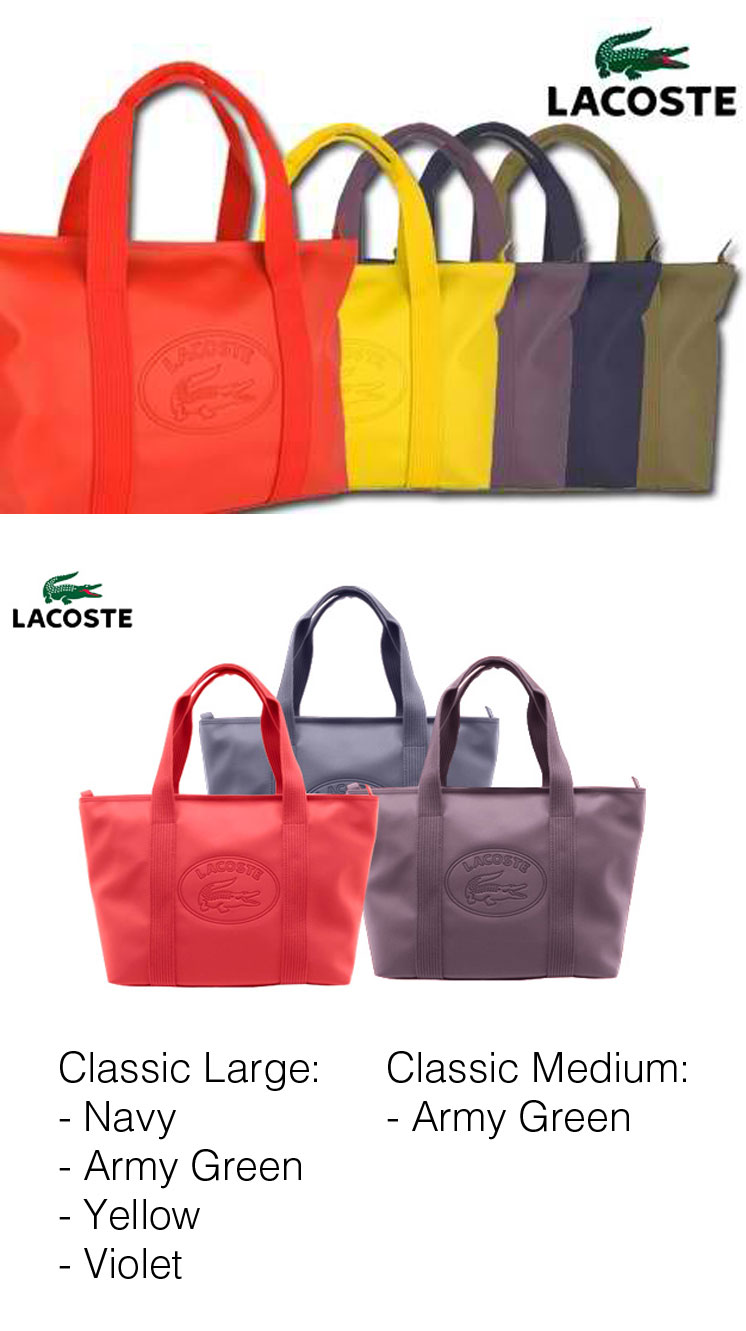 Lacoste Classic Tote Bag In Large Or Medium