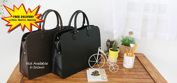 Stylish! Light-Weight! Black Document Bag from Korea