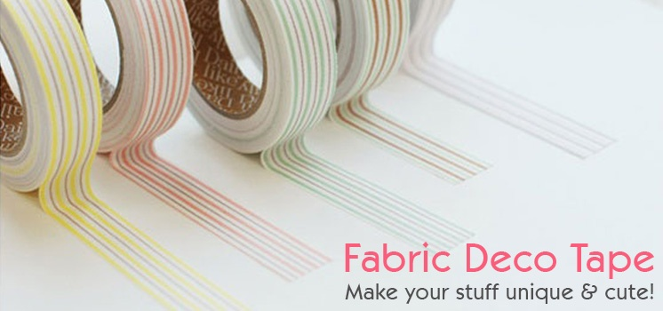 Fabric Decor Tape Set of 4pc