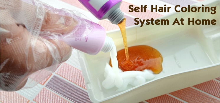 DIY Self Hair Coloring System - Done in 10mins while shampoo!