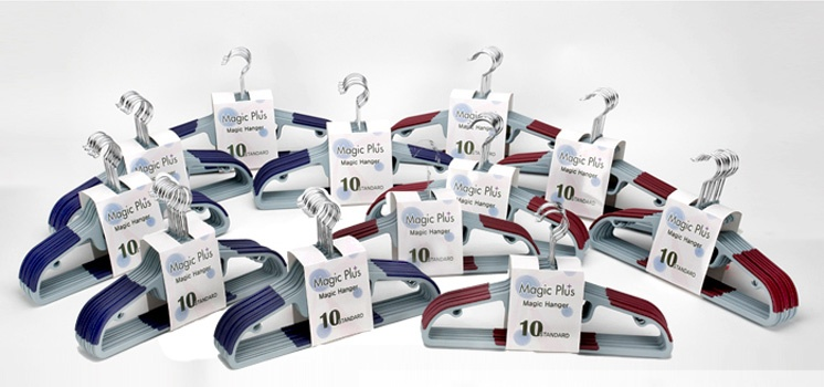 Magic Plus Hanger! Non-Slip Design! Set of 10pc!
