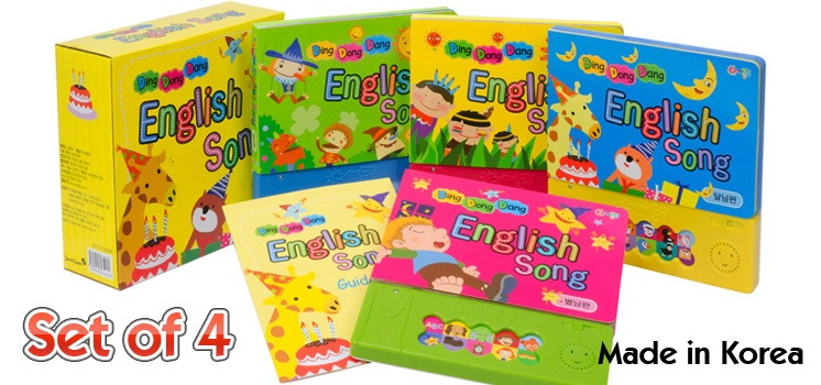 English Music Song Books for Kids Set of 4