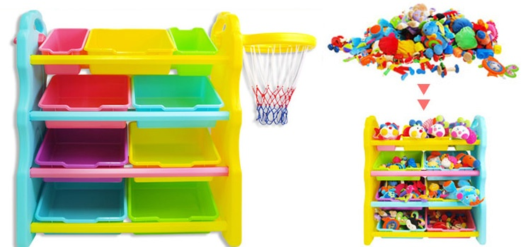 4-Layer Toy Organizer with Basketball from Korea