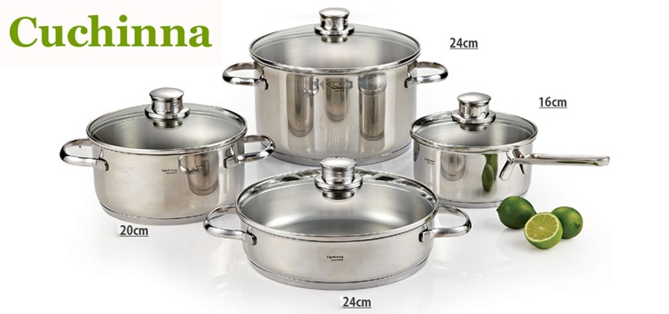 Cuchinna Premium Cooking Ware Set of 8