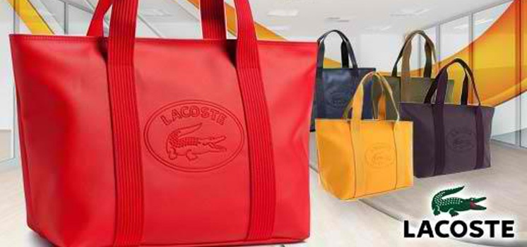 Lacoste Classic Tote Bag In Large Or Medium With Dust