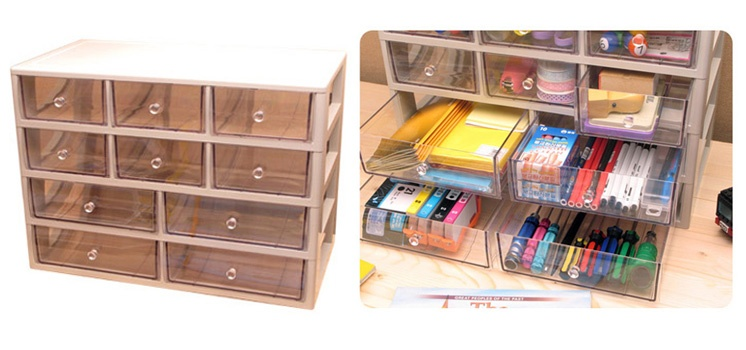 Transparent ABS Multi Organizer